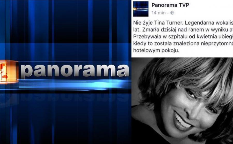 logo Panoramy, news o Tinie Turner