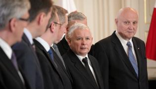 Wojciech Jasiński (z prawej) z Jarosławem Kaczyńskim
