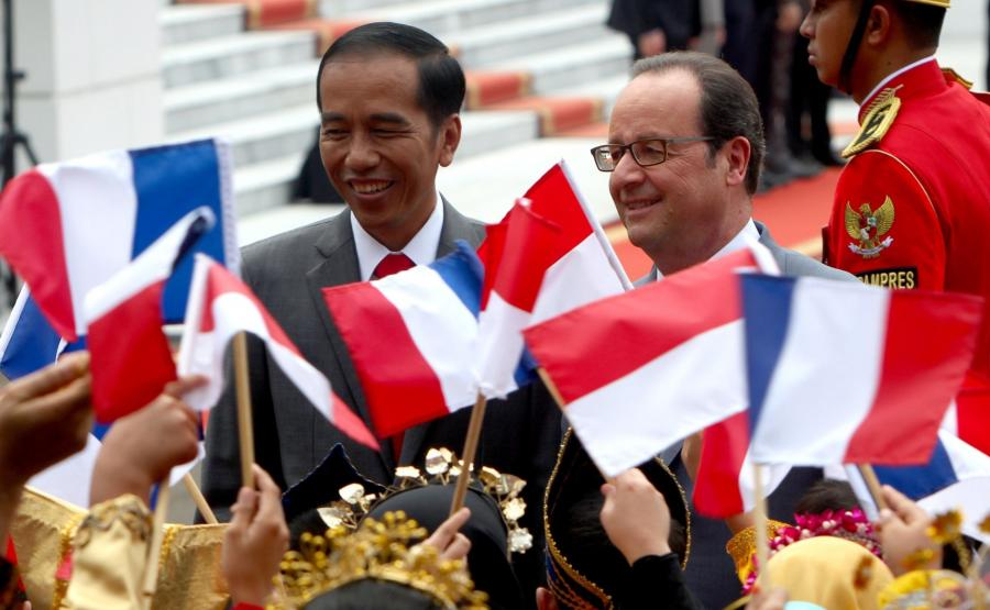 Prezydent Francois Hollande w Indonezji