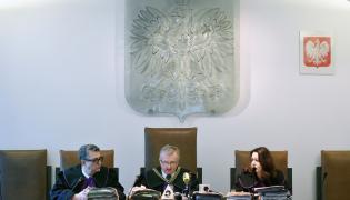 Sędziowie Sądu Apelacyjnego, od lewej Marek Motuk, Adam Wrzosek i Ewa Jethon podczas rozprawy