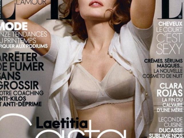 """Styczniowe wydanie francuskiego """"Elle"""" i Leticia Casta"""