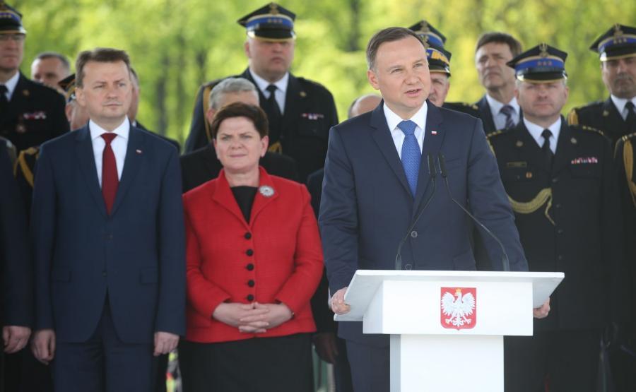 Mariusz Błaszczak, Beata Szydło, Andrzej Duda