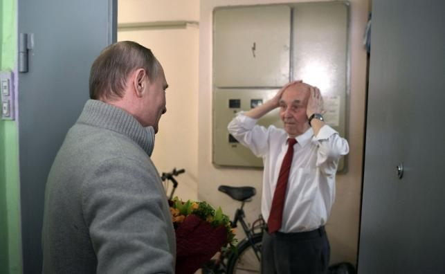 Władimir Putin i Łazar Matwiejew