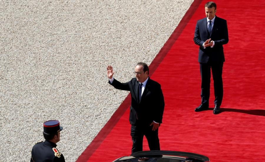 Emmanuel Macron i Francois Hollande