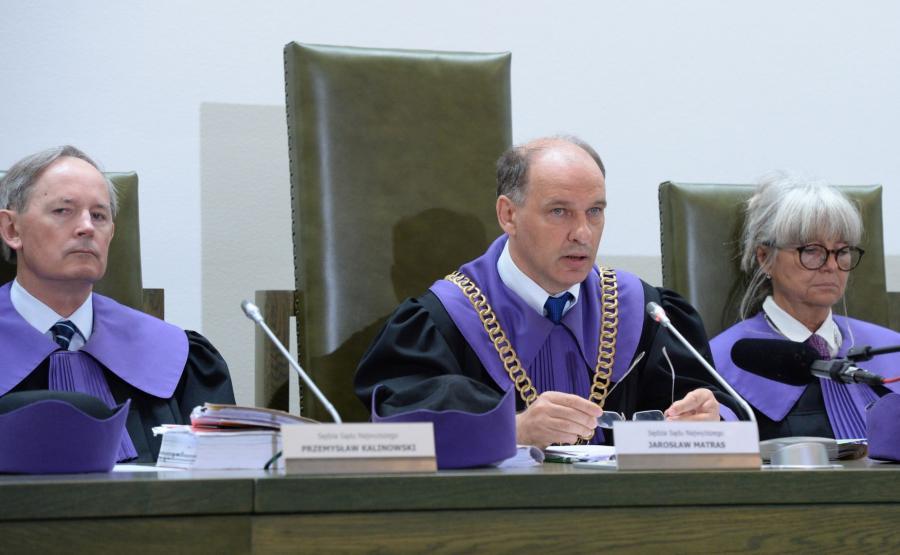 Sędziowie Sądu Najwyższego -Przemysław Kalinowski, Jarosław Matras, Dorota Rysińska