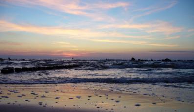 Zachód słońca w Darłowie