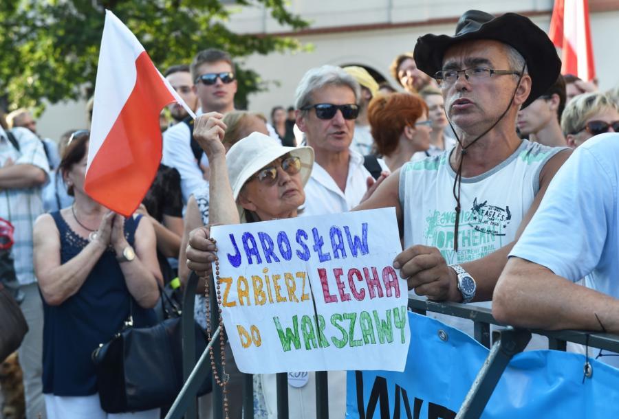 Protest przeciwników PiS