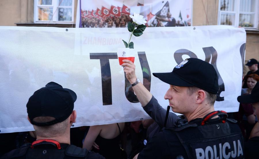 Policja na marszu narodowców