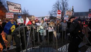 Protest na Wawelu