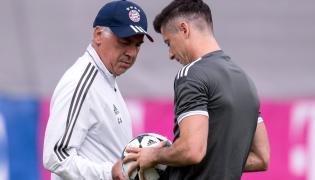 Carlo Ancelotti i Robert Lewandowski