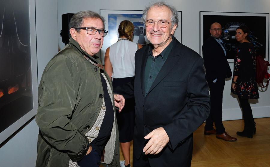 Janusz Gajos i Ryszard Horowitz na otwarciu wystawy \