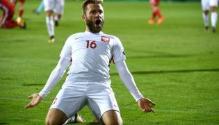 Jakub Błaszczykowski cieszy się z gola podczas meczu grupy E eliminacji mistrzostw świata z Armenią