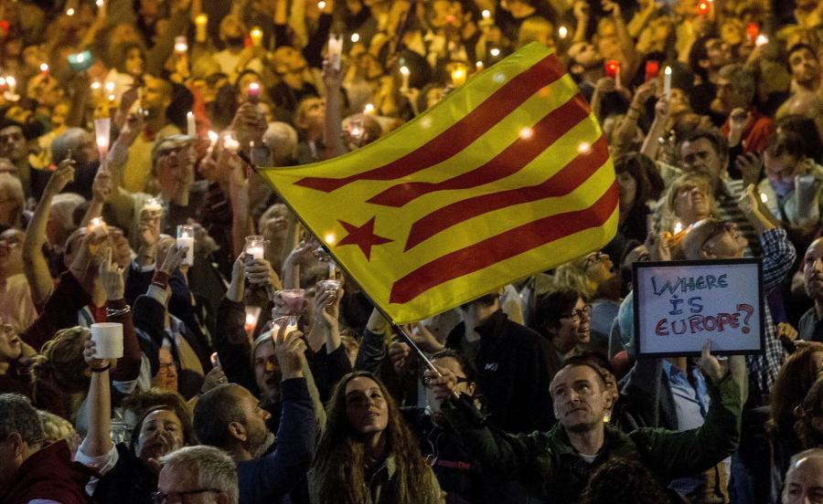 Protesty w Katalonii