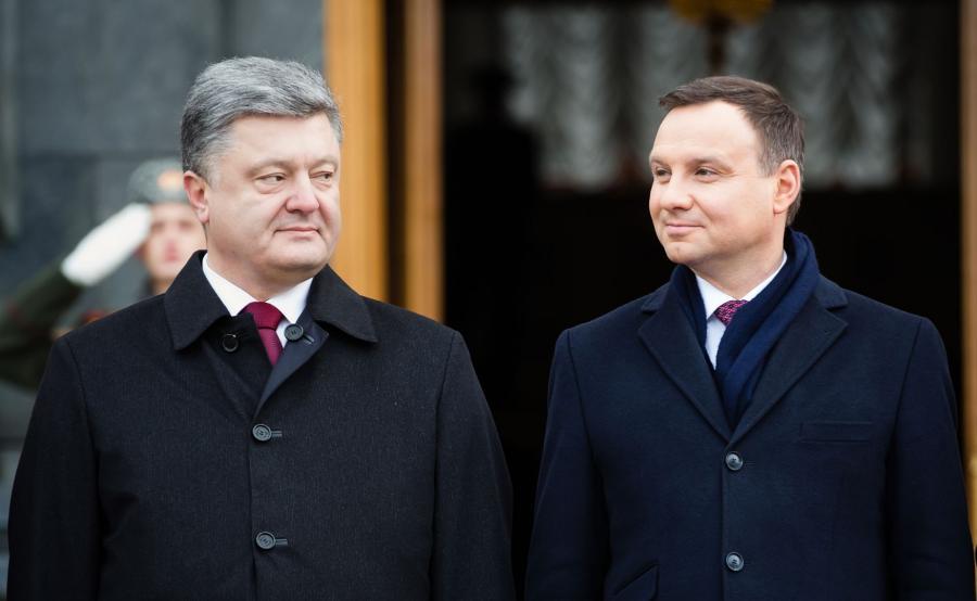 Prezydenci Polski i Ukrainy, Andrzej Duda i Petro Poroszenko