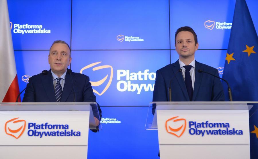 Grzegorz Schetyna i Rafał Trzaskowski