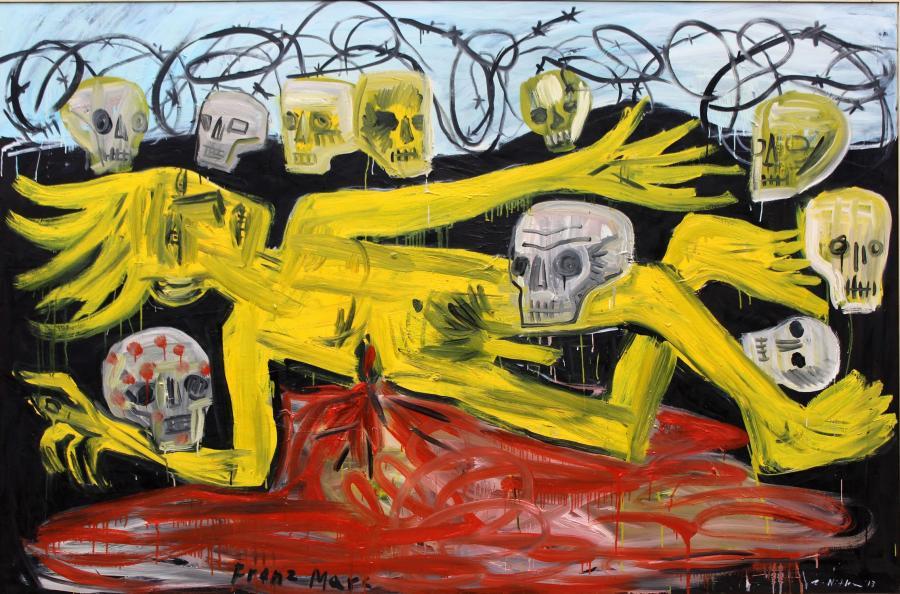 Zdzisław Nitka, Franz Marc, 2013, olej, płótno, 140 x 210 cm, własność artysty