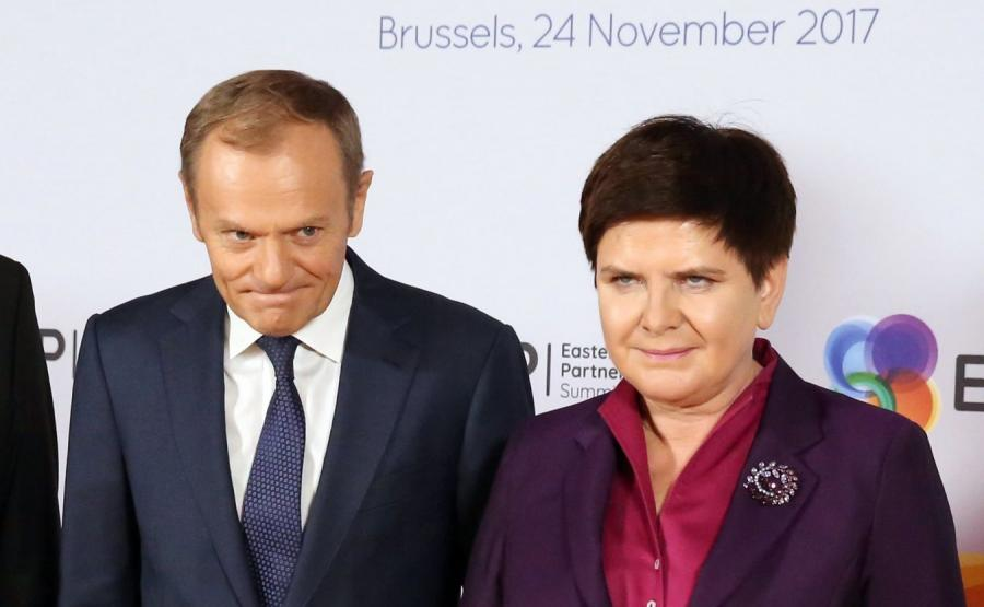 Donald Tusk i Beata Szydło