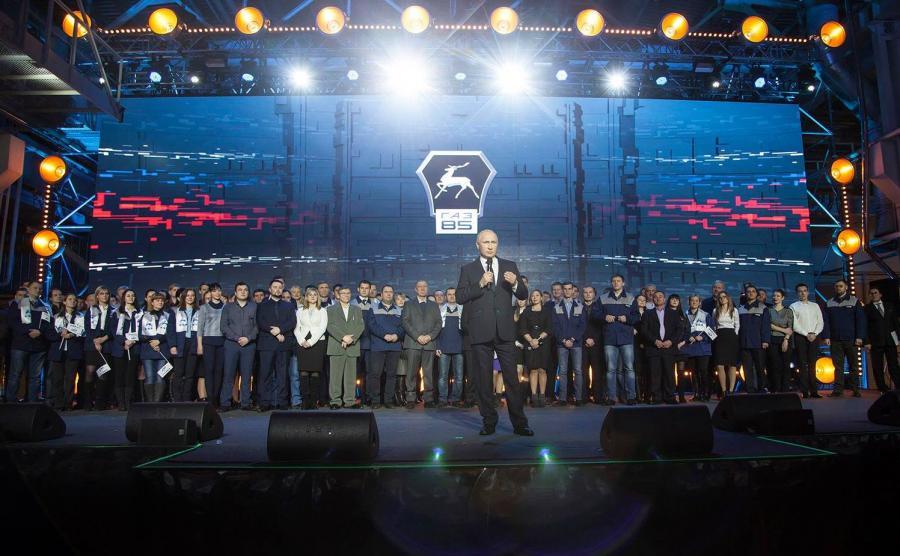 Prezydent Rosji Władimir Putin odwiedził Gorkowskie Zakłady Samochodowe (GAZ)
