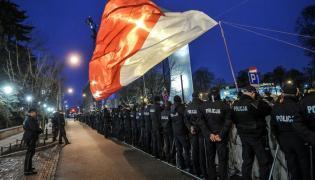 Policja przed Sejmem i protest Obywateli RP