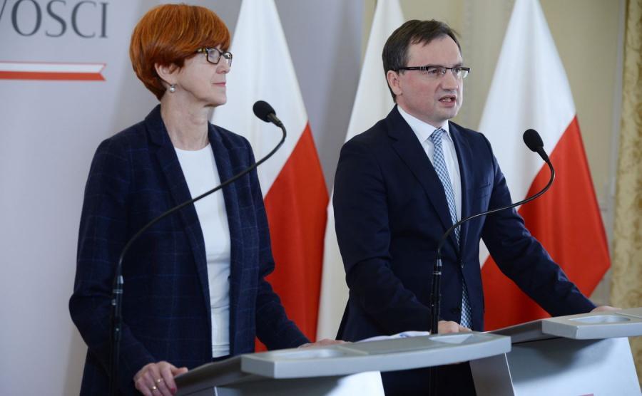 Elżbieta Rafalska i Zbigniew Ziobro