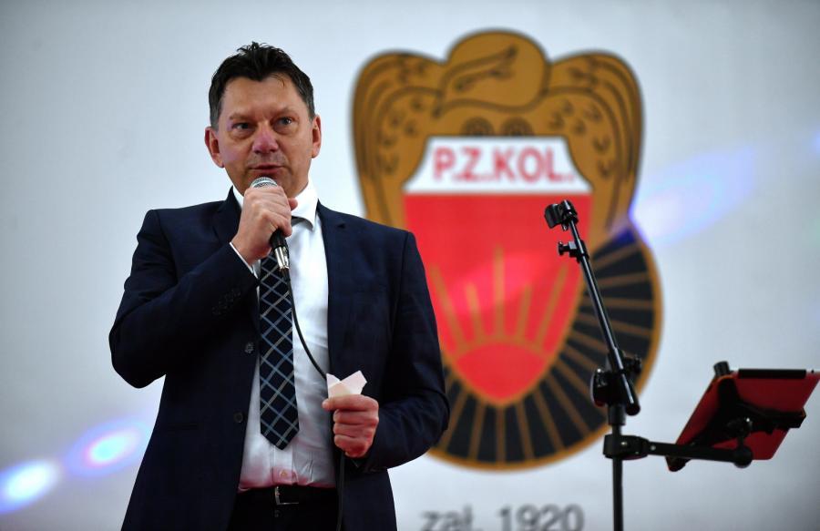 Prezes PZKol Dariusz Banaszek