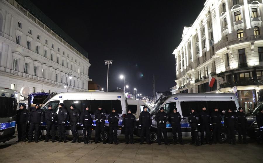 Policja na Krakowskim Przedmieściu