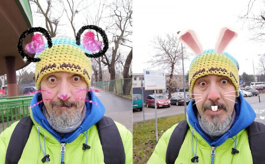 Zdjęcia wykonane Honorem 7X - filtry w aparacie do selfie