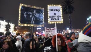 Protest kobiet w Warszawie
