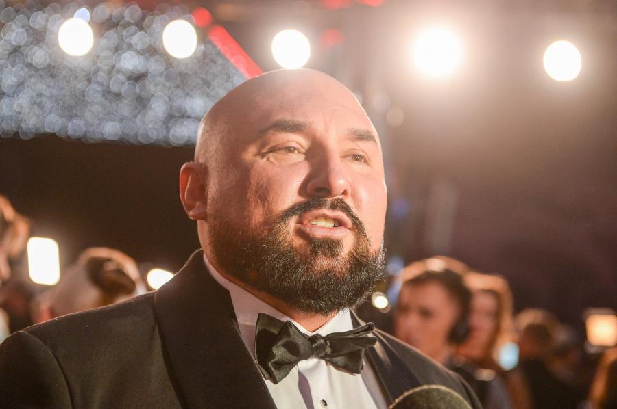 Patryk Vega na premierze filmu \