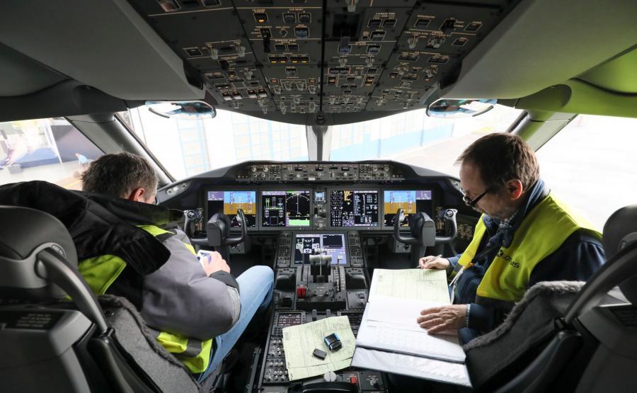 Kabina pilotów Dreamlinera