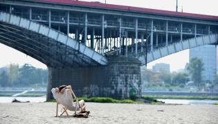 Plażowicze na plaży Poniatówce