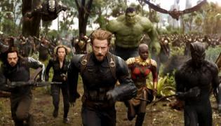 "Kadr z filmu ""Avengers: Wojna bez granic"""