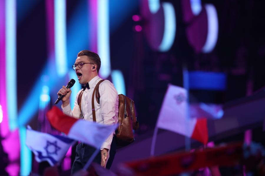 Mikolas Josef z Czech był jednym z najjaśniejszych punktów pierwszego półfinału Eurowizji