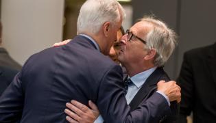Michael Barnier i Jean-Claude Juncker