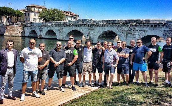 Działacze ONR w Rimini