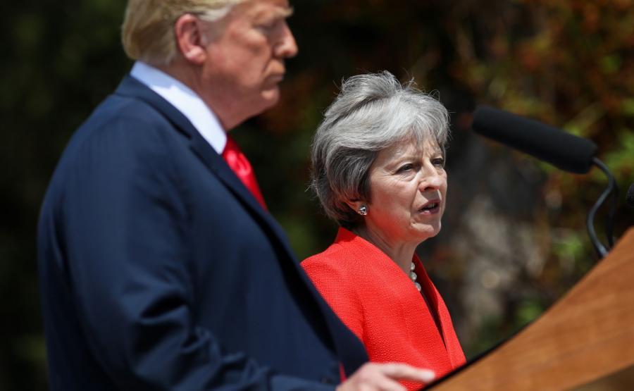 Theresa May i Donald Trump
