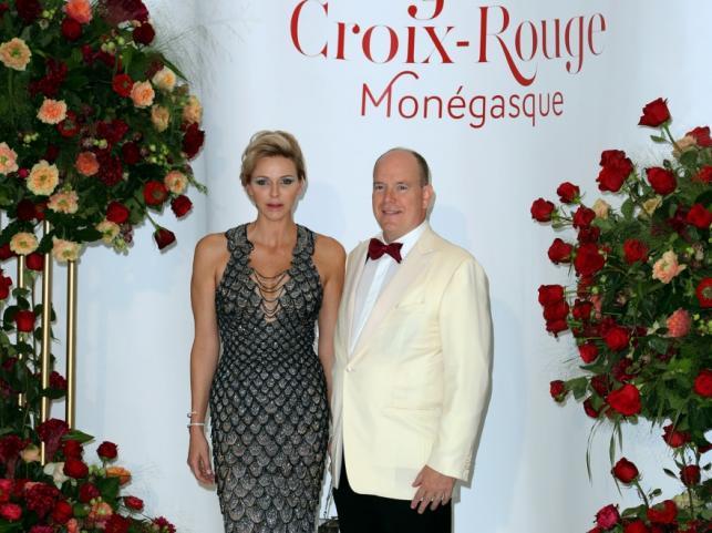 Księżna Charlene i książę Albert II
