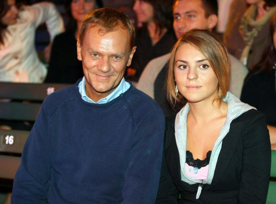 Premier Donald Tusk z córką Kasią