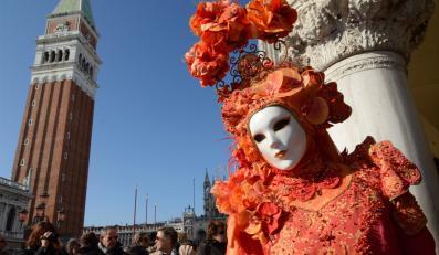 Gorący finał karnawału w Wenecji. Przyjechała żona prezydenta