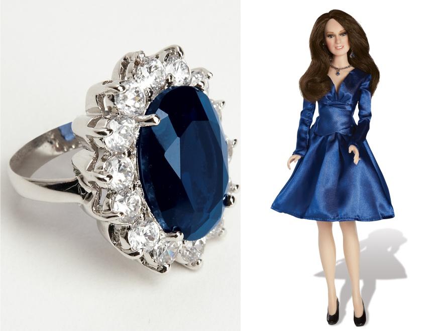 Lalka i pierścionek zaręczynowy Kate Middleton
