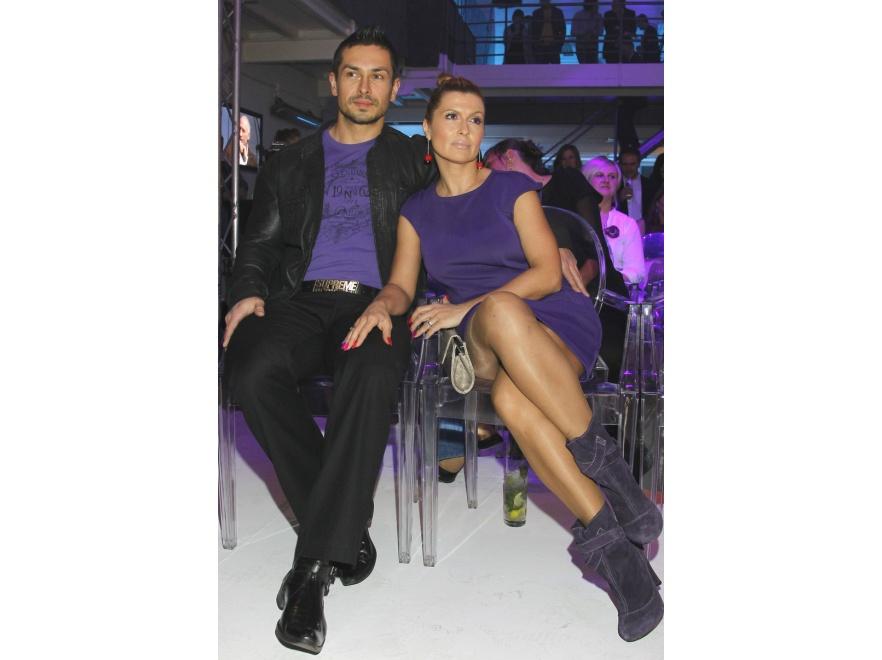 Katarzyna Skrzynecka i Marcin Łopucki na promocji kosmetyków Dove Men+Care