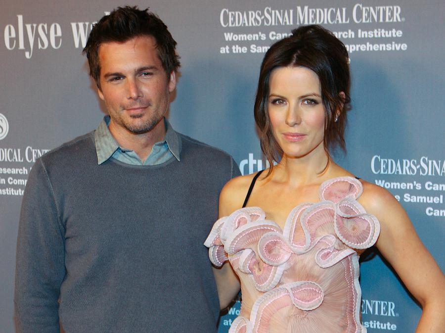 Kate Beckinsale i jej mążLen Wiseman
