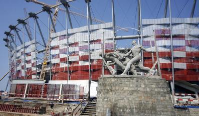 Wielki poślizg na Stadionie Narodowym