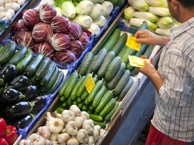 Warzywa na jednym z targowisk we Frankfurcie nad Menem