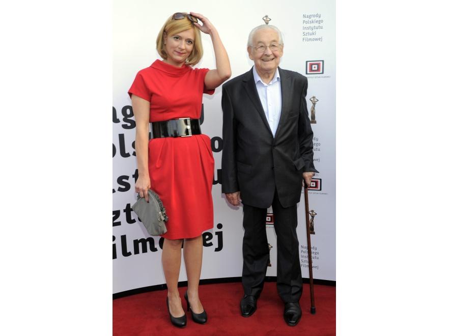 Agnieszka Odorowicz i Andrzej Wajda na gali otwarcia 36. Festiwalu Filmów Fabularnych w Gdyni