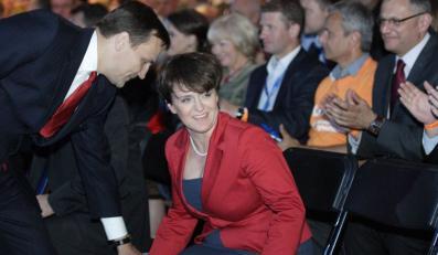 Kluzik-Rostkowska na konwencji PO