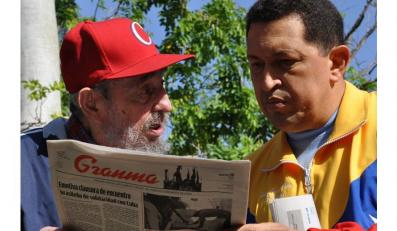 Hugo Chavez i Fidel Castro