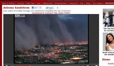 Burza piaskowa nad Phoenix
