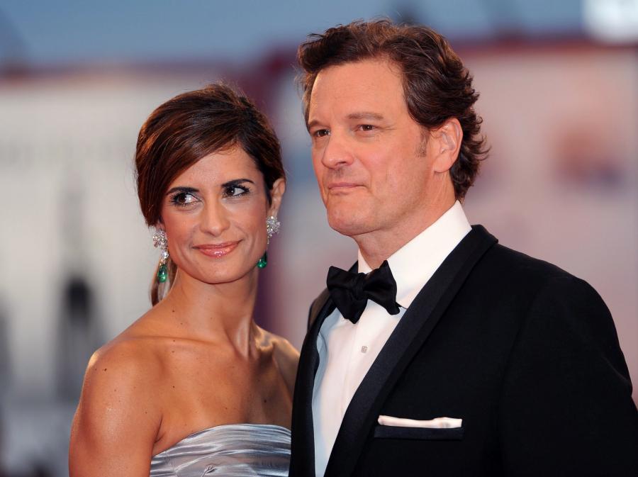 Colin Firth i jego żona Livia Giuggioli na weneckiej premierze \