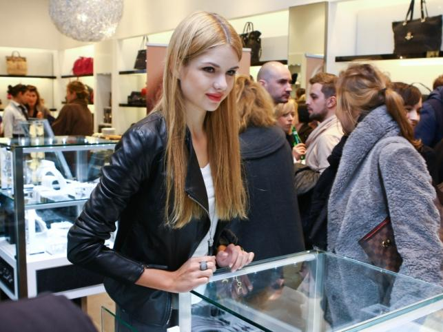 Olga Kaczyńska na prezentacji nowej biżuterii Guess.